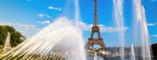 Tour Eiffel et fontaines, Paris, France - Facebook Cover