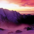 Cover FB  Sunset Over Franz Josef Glacier, Westland National Park, South Island, New Zealand