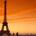 Cover FB  Sunset Paris Eiffel Tower