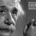 Citation Einstein anglais - Facebook Cover