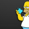 Apple et Homer Simpson