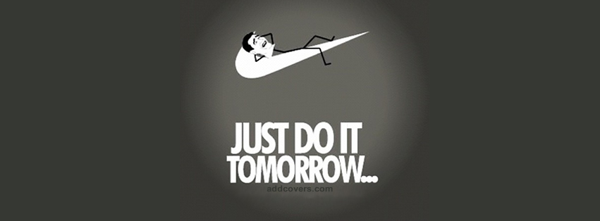 just do it tomorrow - fb couverture