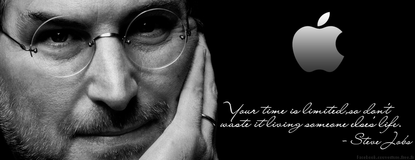 Apple Steve Jobs Citation Facebook Couverture