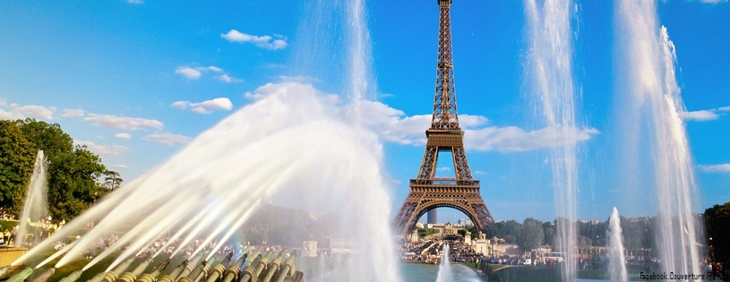 Tour Eiffel et fontaines, Paris, France - Facebook Cover.jpg