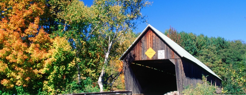 Cover FB  Lincoln Covered Bridge, West Woodstock, Vermont
