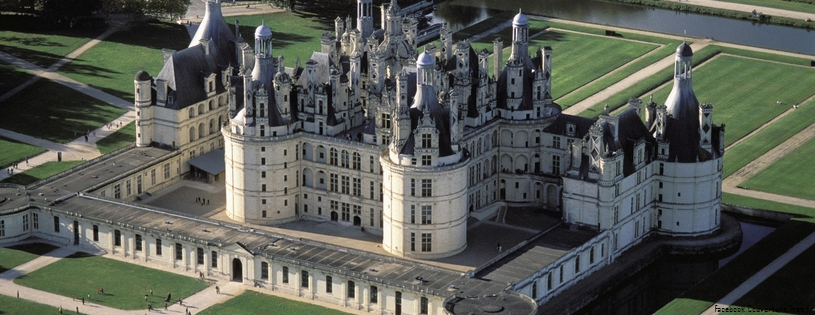Cover FB  Chateau de Chambord . Val-de-Loire, France