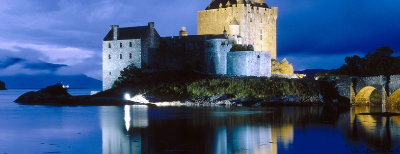 Cover FB  Evening Falls on Eilean Donan Castle, Scotland