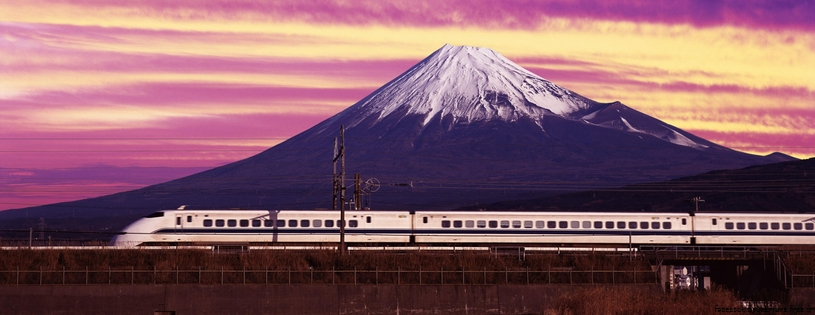 Shinkansen Bullet Train and Mount Fuji, Japan.jpg