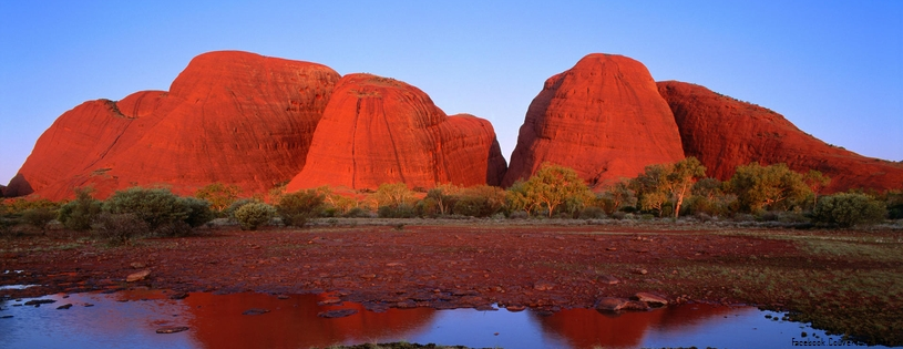 Cover FB  Kata Tjuta (The Olgas) at Sunset, Uluru-Kata Tjuta National Park, Australia