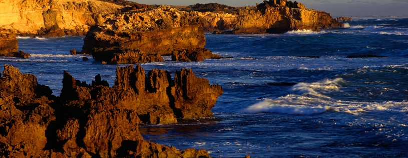 Cover FB  Rugged Coastline at Boozy Gully, Canunda National Park, Australia