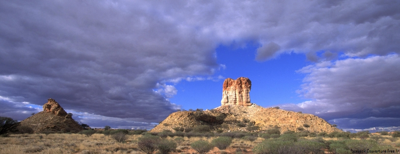 Cover FB  Sandstone Tower, Chambers Pillar Historical Reserve, Northern Territory, Australia