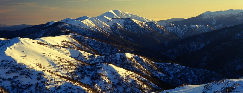 Cover FB  Sunrise on Mount Feathertop, Alpine National Park, Victoria, Australia