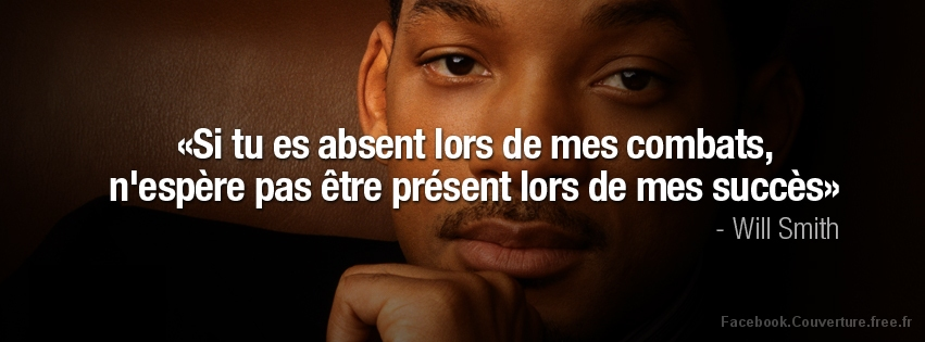 Citation Will Smith - Couverture Facebook