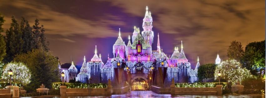 Chateau Disneyland Pour Noël 851x315 5000 Photos De